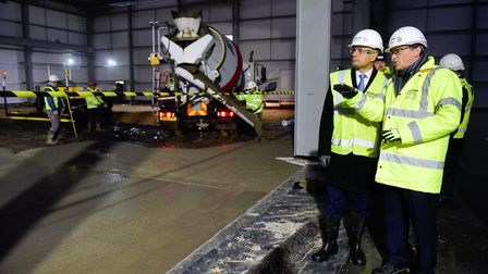 Visit to Great Yarmouth Enterprize Zone by Sajid Javid MP, Secretary of State DCLG. Visiting Proserv