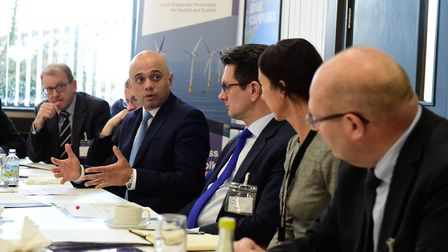 Visit to Great Yarmouth Enterprise Zone by Sajid Javid MP, Secretary of State DCLG and Steve Baker M