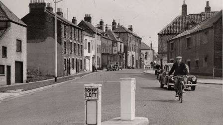 Great Yarmouth's Fullers Hill in 1957, before a major road widening scheme and redevelopment. Pictur