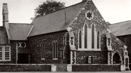 St Andrew's Church (the Wherrymen's Church) and School in Yarmouth, demolished in 1964 to permit the