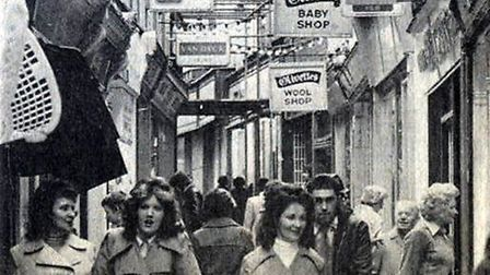 Shopping for wool? A busy Market Row, perhaps in the 1960s, one of Olivettes' locations.Picture: MIC