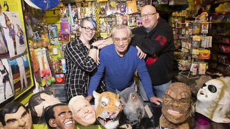 George Cyzkieta from Jokers Corner fancy dress shop in Great Yarmouth is set to close his business a