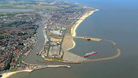 How the outer harbour in Great Yarmouth, might have looked, with its ferry service. This picture was