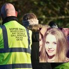 A photo from a volunteer-led search for missing Sophie Smith in Gorleston last week and inset a pict