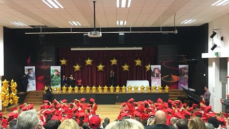 The setting for the graduation ceremony.Picture: Ormiston Venture Academy