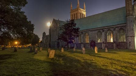 Great Yarmouth Minster Church by night