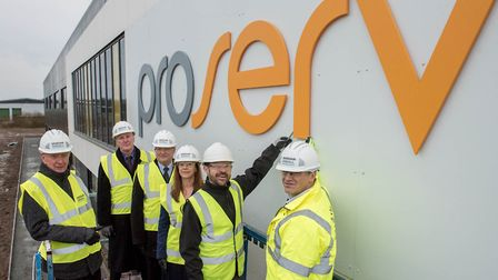 Representatives of Great Yarmouth Borough Council, Proserv, New Anglia LEP and contractor Morgan Sin