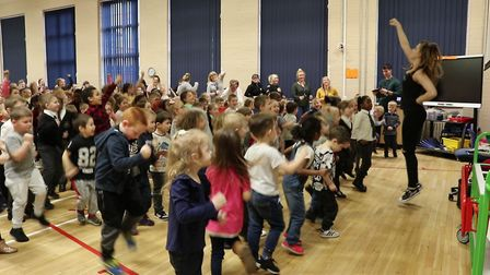 Pupils at Great Yarmouth Primary Academy take part in a danceathon in aid of the NSPCC.Picture: Insp