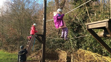 Pupils enjoy the outdoor activities.Picture: Northgate Primary School