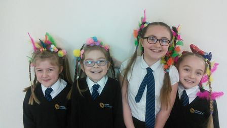 Pupils and staff enjoyed the bad hair day at Ormiston Herman Academy in Gorleston.Picture: Ormiston