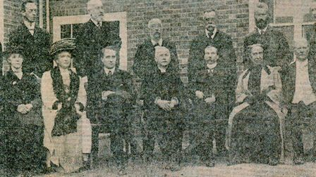 The governors of the new facility at its 1912 opening. Picture: Mercury Archive