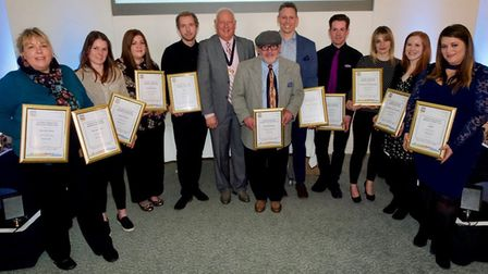 Proud winners at the Great Yarmouth Tourism and Business Awards.Picture: Steve Davis/ GYTABIA