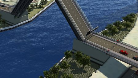 An artist's impression of Great Yarmouth's third river crossing