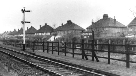 The Newtown Halt...at which Peggotty never saw a train stop. It was beside Salisbury Road in Yarmout