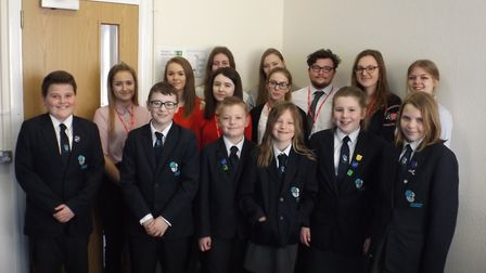 College students with the Wroughton pupils. They have formed a learning partnership.Picture: East No