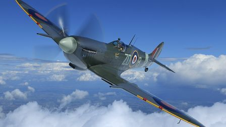 The 1943 Spitfire from the Old Flying Machine Company. Picture: John Dibbs