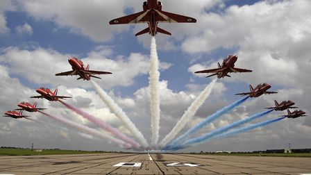 The Red Arrows are coming to the Great Yarmouth Air Show.Picture:Ministry of Defence