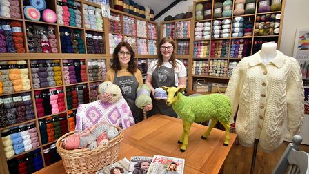 The Lost Sheep Wool Shop in Rollesby. Owner Teresa Leech with Jade Allen.Picture: ANTONY KELLY