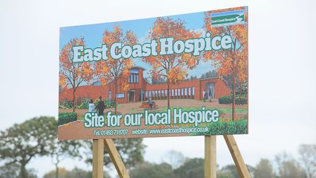 East Coast Hospice site on the edge of Gorleston. The hospice is named the Margaret Chadd House.Pict