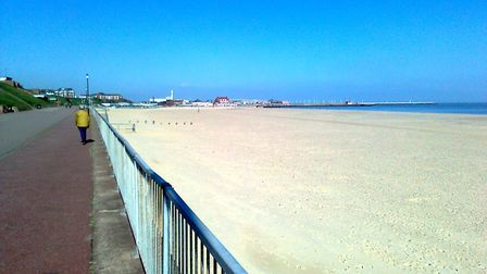 Wide and golden: Gorleston beach in 2014. Picture: PEGGOTTY