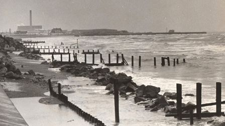 Desolate and ravaged: a sorry Gorleston beach in 1983. Picture: MERCURY LIBRARY