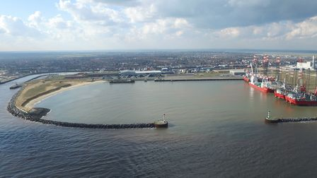 Decommissioning at Great Yarmouth Outer Harbour. Picture: VEOLIA PETERSON