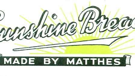 Matthes' Sunshine logo, well-known to housewives far and wide.