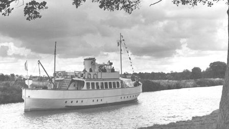 Norwich -- Rivers The Regal Lady on a late holiday cruise on the River Yare near Norwich Dated --