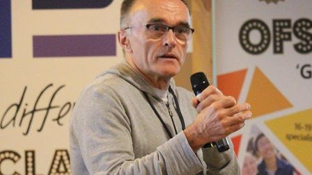 Danny Boyle visited East Norfolk Sixth Form College to talk to students and teachers about his lates
