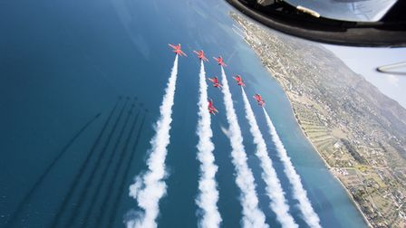 The Red Arrows will be at the air show. Picture: Squadron leader Mike Ling