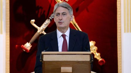 Chancellor of the Exchequer Philip Hammond delivers keynote speech to City leaders at Mansion Hous