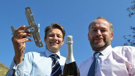 Looking forward to hosting guests at the Great Yarmouth Air Show are Daniel Connall senior partner