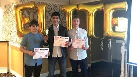 Basketball players at the awards ceremony.Picture: Ormiston Venture Academy