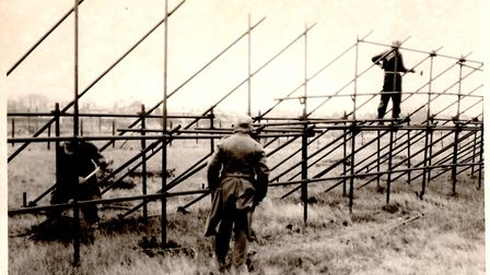 German PoWs dismantling scaffold pole defences on the North Denes in 1946. Picture: Mercury Archive