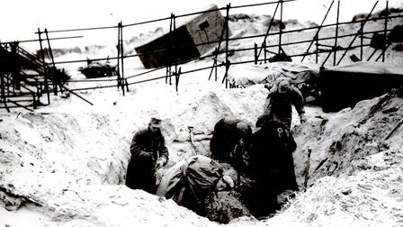 Where are the mines? German prisoners-of-war searching for British mines on the North Denes at Great