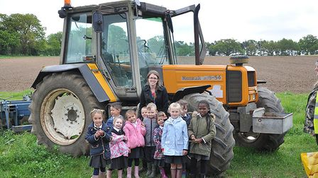 Reception children from Cobholm Primary Academy enjoyed their visit to Hundred River Farm.Picture: I
