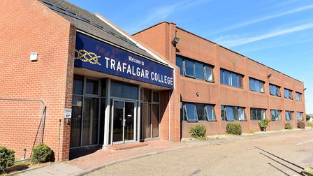 The opening day for Trafalgar College, the first new high school for 50 years in Great Yarmouth.Sept