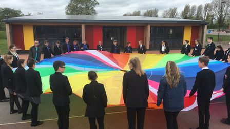 The anti-bullying event at Ormiston Venture Academy.Picture: Ormiston Venture Academy