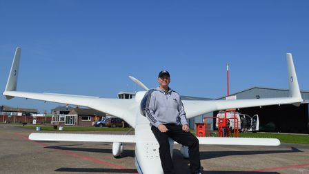 Dan Gay with his LZ plane at Seething Airfield.Picture: TMS Media