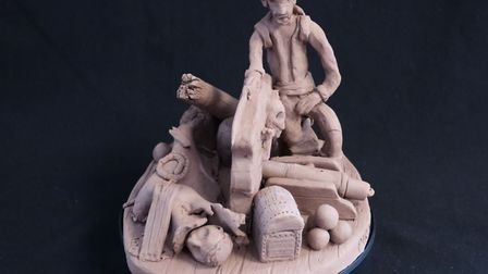 'Fall the Pirate' researched and made in clay by Ruth Bond. Picture: Joshua Grace, Wide Angle Photog