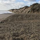 The battered Hemsby cliffs. Picture: James Bensly