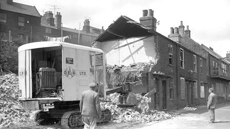 Great Yarmouth building demolition at Riverside Road, Gorleston, dated May 1960. Plate P3735