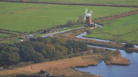 Norfolk from the air during the autumn sunshine. Horsey Mill.PHOTO BY SIMON FINLAY
