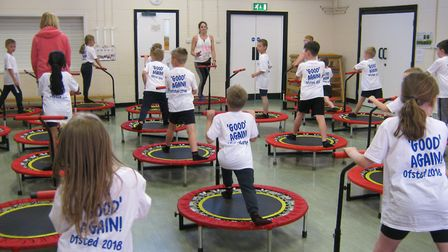 To celebrate the Ofsted report pupils donned special t-shirts, had a tea party and enjoyed boogie bo
