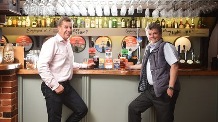 Woodforde's Brewery, Woodbastwick. Commercial manager James Armitage, left, and master brewer Neil B