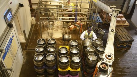 The barrelling line at Woodeforde's Brewery, Woodbastwick. Picture: ANTONY KELLY