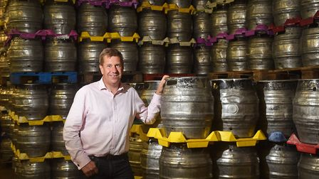 Woodforde's commercial manager James Armitage in the barrel store. Picture: ANTONY KELLY