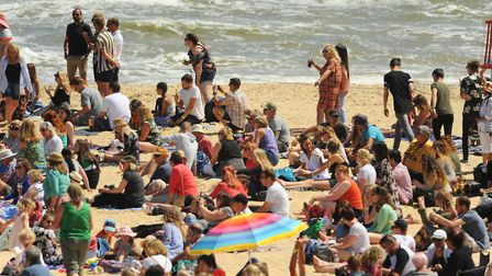 6000 extras on Gorleston beach for filming by Danny Boyle. Picture: DENISE BRADLEY