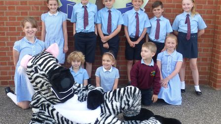 Pupils took part in a Bake for Brake cake sale and also met Zac the Zebra, the charity's mascotPictu