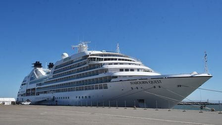 Seabourn Quest cruise ship docks at Great Yarmouth outer harbour.Picture: ANTONY KELLY
